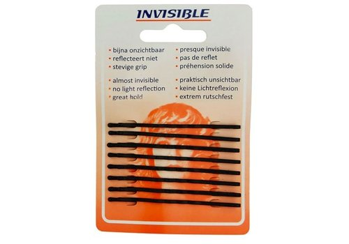 Invisible Invisible Blend-Rite Schuifjes 6,5cm Lang Zwart Kaartje