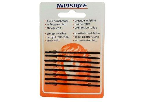 INVISIBLE SCHUIFJES Invisible Blend-Rite Schuifjes 6,5Cm Lang Zwart