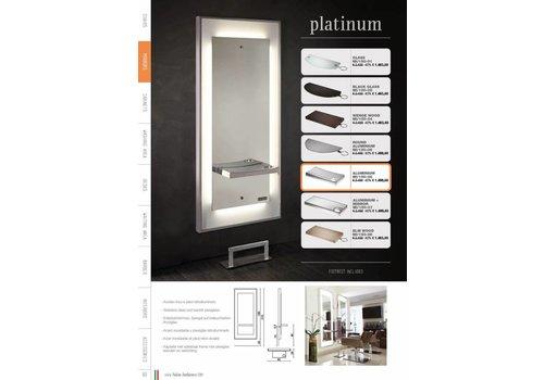 Salon Ambience Platinum Styling Unit Alum.Rect.Shelf Footrest Fr/040
