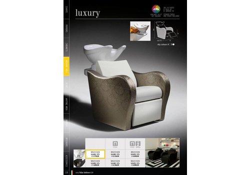 Salon Ambience Luxury Wash Unit Met Massage Zwarte Wasbak