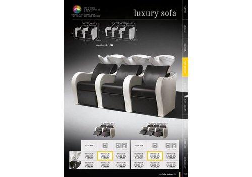 Salon Ambience Luxury Double Wash Unit Zwarte Wasbak