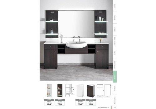 Salon Ambience Shine Wenge Display Panel Glass Shelves