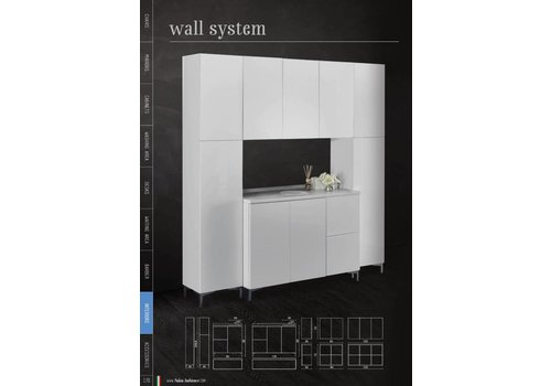 Salon Ambience Wall System Wit 120 Top Cabinet Metout Doors