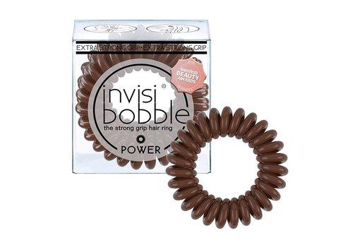 Invisibobble Invisibobble Power Elastiek Pretzel Brown 3 Stuks