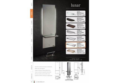 Salon Ambience Lunar Styling Unit Alum.Shelf+Spiegel Footrest Fr/020