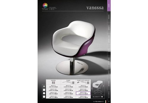 Salon Ambience Vanessa Plastic Backrest Cover Wit Strip