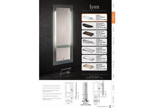 Salon Ambience Lyon Glass Styling Unit Alum.Rect.Shel Footrest Fr/020