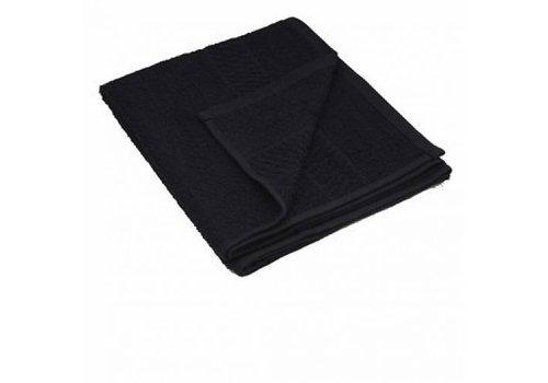 Handdoek Zwart Bleach Safe 50X85