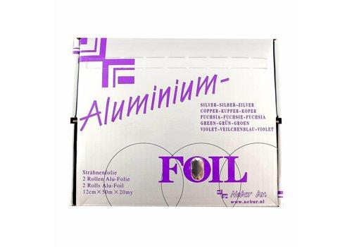 Alufolie 12 Cm - 50 Mtr Zilver Per Rol Nebur