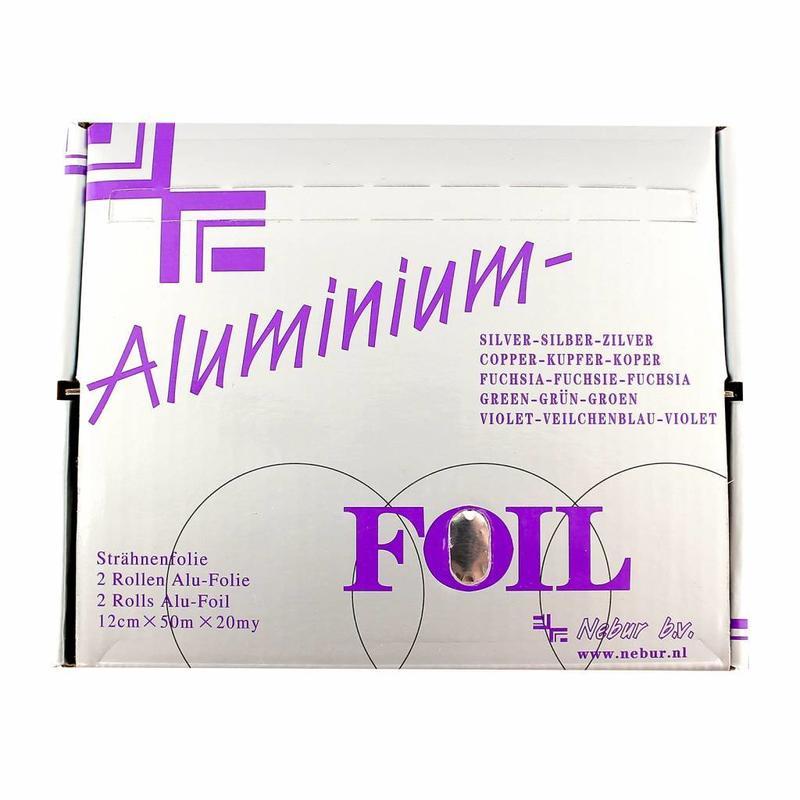 Alufolie 12 cm  - 20 my- 50 meter Zilver Per Rol Nebur