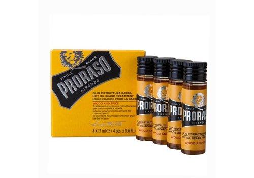Proraso Proraso Hot Oil Beard Treatment Wood & Spice 4x17ml