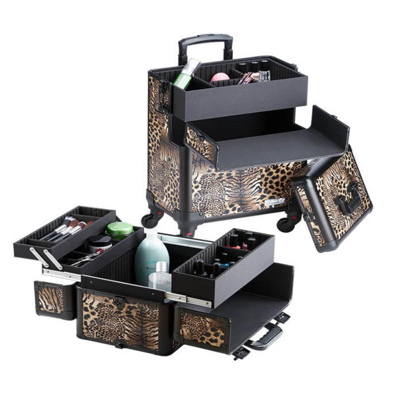 Trolley koffer panterlook