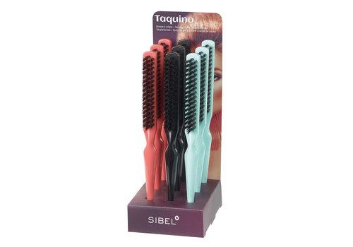 Sinelco Smalle Toupeerborstel Taquino display 9 stuks