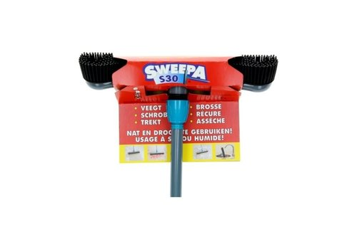 Sweepa Sweepa Rubber Bezem Incl . Steel