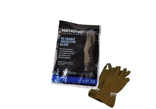 HERCULES/MATADOR Matador Poedervrije Herbruikbare Handschoenen Goud 2 Stuks