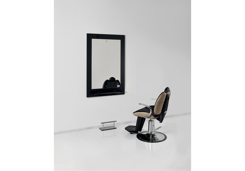 Luca Rossini LR Sonora Black Work Unit Black Shelf With Footrest