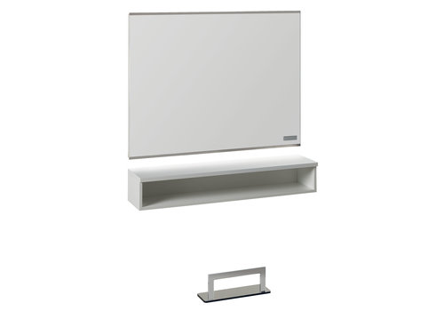 Salon Ambience SA Horizon White Ash Styling Unit With Led Lighting