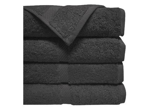 Eurostil Handdoek 40x80cm Zwart 12st