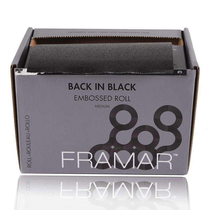 Framar Alufolie Back in Black Embossed Medium 98m