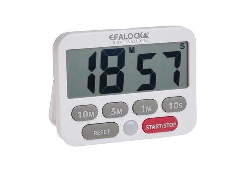 Efalock Efalock Easy-Time Digitale Wekker Wit