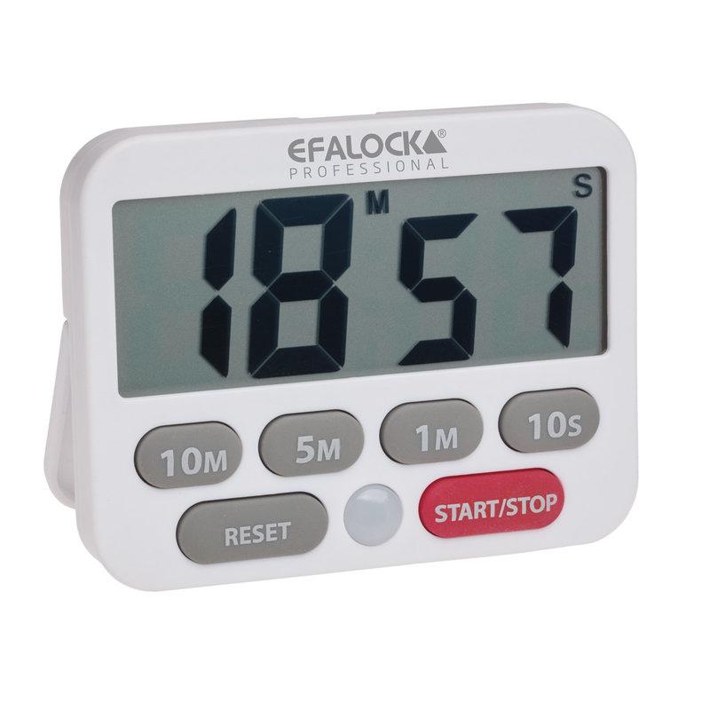 Efalock Easy-Time Digitale Wekker Wit