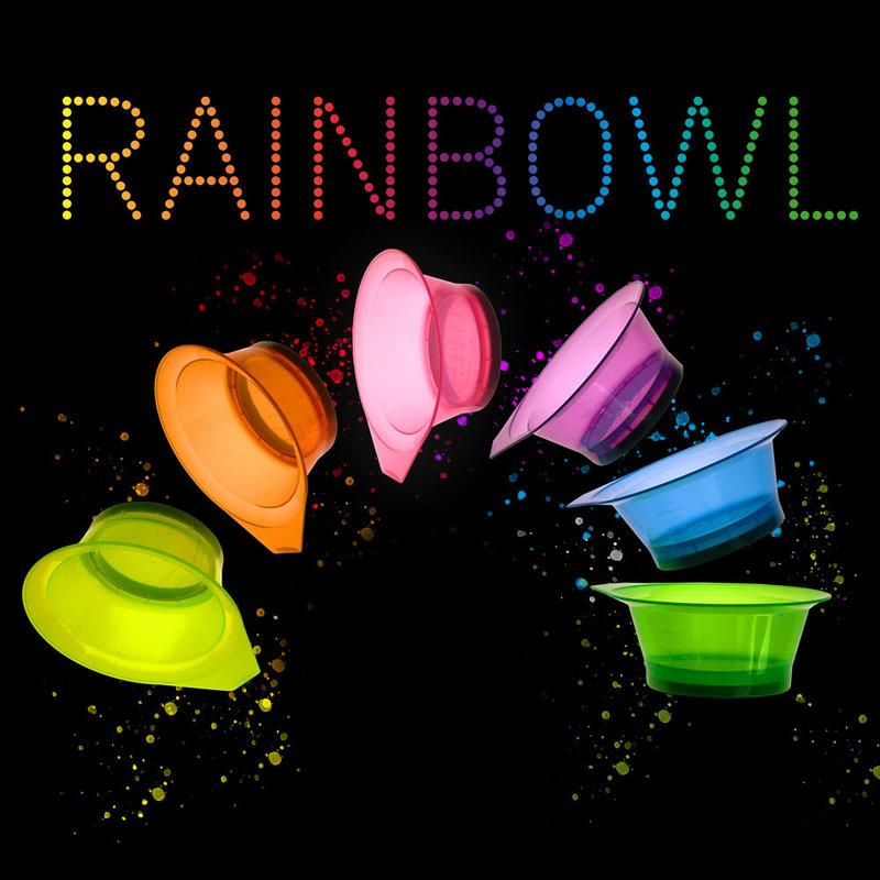 Efalock Rainbowl Verfbakjes Semi-transparant 250ml 6st