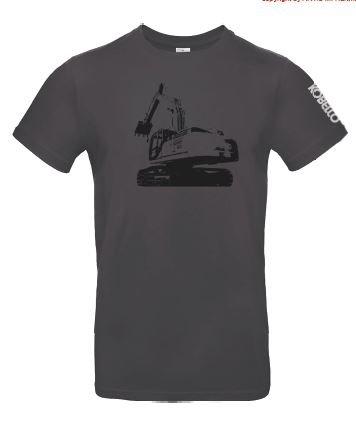 Grijs graafmachine T-shirt