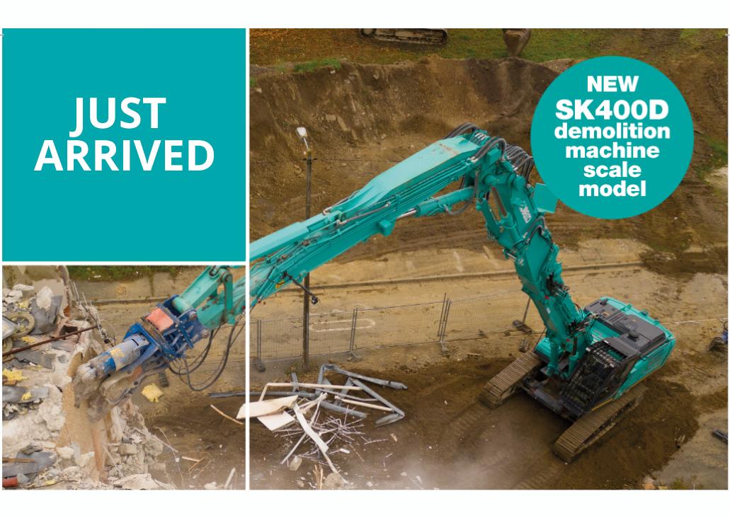 SK400DLC-10 Demolition Scale Model - Arrived