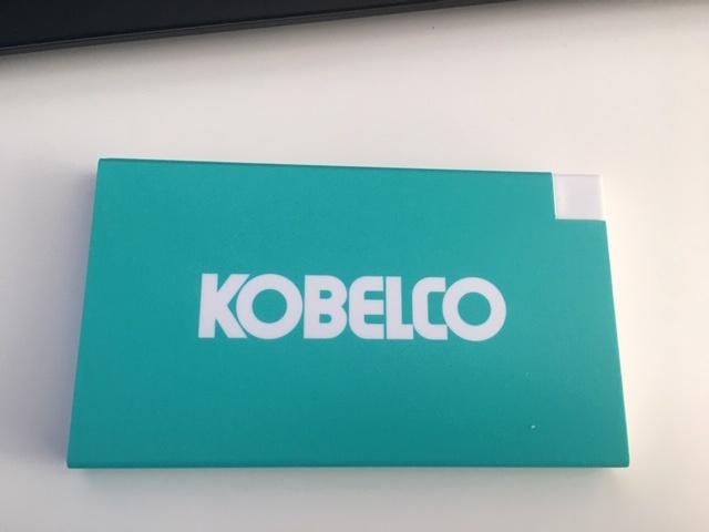 Powerbank con logo Kobelco
