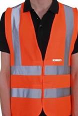 Gilet di sicurezza arancione ad alta visibilità