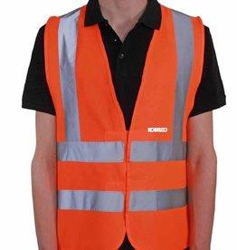 Gilet de sécurité orange haute visibilité