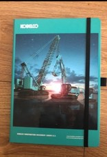 Kobelco notitieboek met gekleurde print