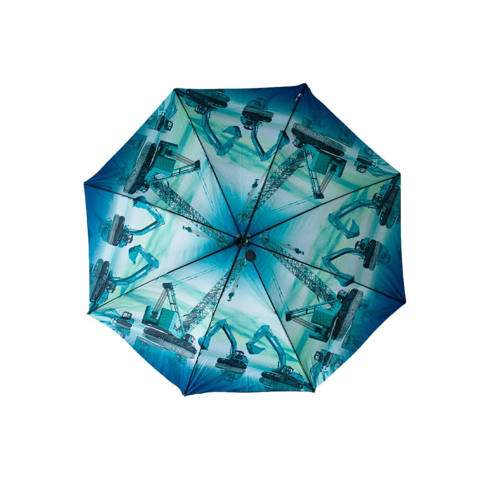 Stormparaplu met kleurenprint