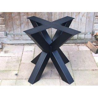 Onderstel Dubbele X-poot koker 10 x 10cm.