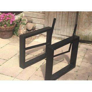 Stalen frames voor loungebank
