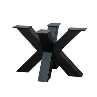 DUBBELE- X SALONTAFEL