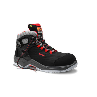 Elten  Arturo black red mid esd s3