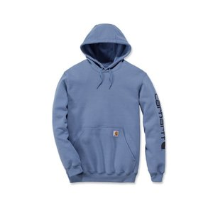 Carhartt werkkleding Fleece signature sleeve logo hooded sweatshirt