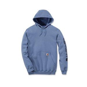 Carhartt workwear  Fleece signature sleeve logo hooded sweatshirt