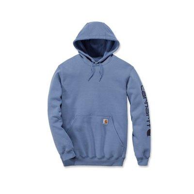Carhartt werkkleding Fleece signature sleeve logo hooded sweatshirt