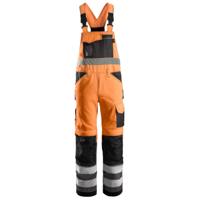 Snickers Workwear Bib & Brace High Visibility