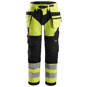 Snickers Workwear FlexiWork, High Vis Werkbroek+ met holsterzakken klasse 2