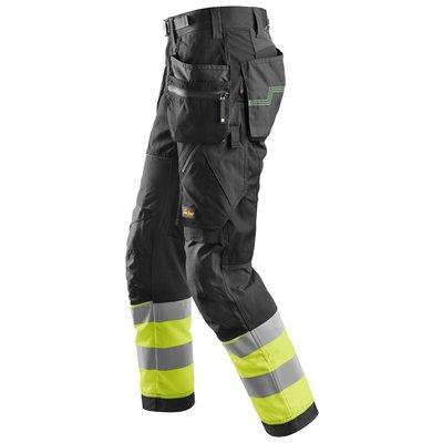 Snickers Workwear FlexiWork, relfecterende Werkbroek+ met holsterzakken, klasse 1