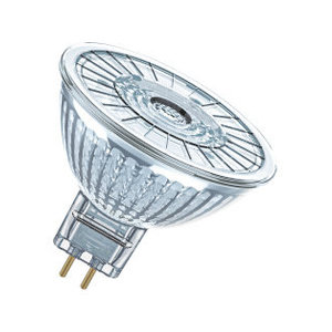 Osram LED Superstar 12v MR16 GU5.3 5w=35w 36gr 350lm 2700k dimbaar