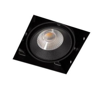 R&M Line Square Trimless LED downlight black
