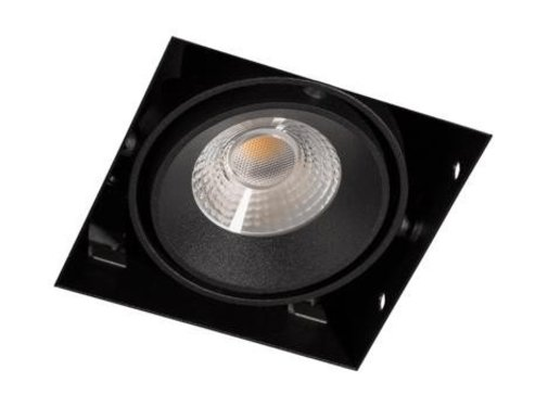 R&M Line Square Trimless LED downlight black