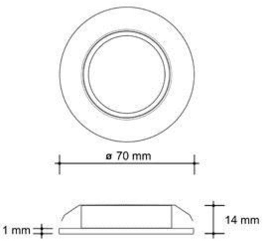 Cabinet light 12v 20w halogen satin-nickel