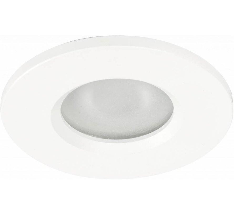 Badkamer inbouwspot Basic flat fix IP54 230v wit