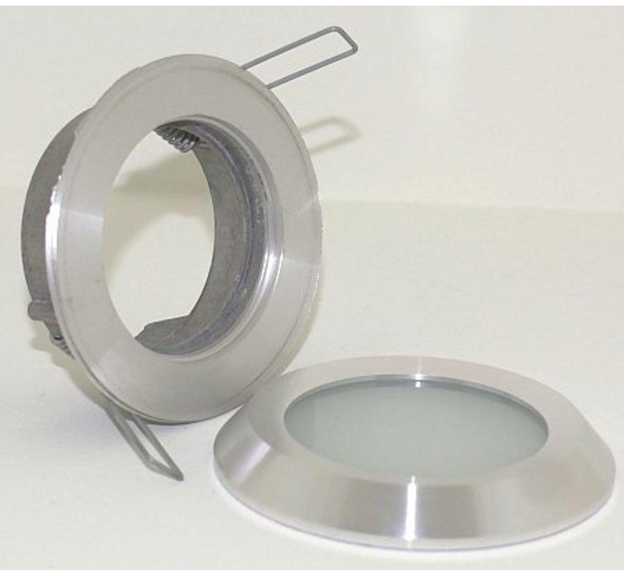 Inbouwspot / badkamerlamp Steam flat IP65 aluminium