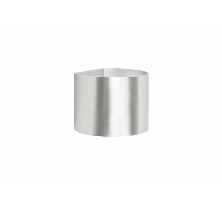 Wandlamp Round aluminium-mat G9 230v